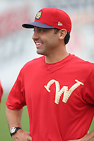 July 4th 2008:  Coach Eric Valent of the Williamsport Crosscutters, Class-A affiliate of the Philadelphia Phillies, during a game at Bowman Field in Williamsport, PA.  Photo by:  Mike Janes/Four Seam Images