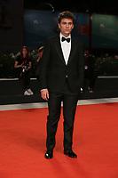 "VENICE, ITALY - SEPTEMBER 05: Giuseppe De Domenico walks the red carpet of the ""ZeroZeroZero"" screening during the 76th Venice Film Festival at Sala Grande on September 05, 2019 in Venice, Italy. (Photo by Mark Cape/Insidefoto)<br /> Venezia 05/09/2019"