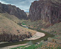 The Owyhee River flowing through Owyhee Canyon at Three Forks; Jordan Valley, OR