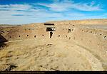 North T-Shaped Doorway, Summer Solstice Window and Niches, Casa Rinconada Great Kiva, Anasazi Hisatsinom Ancestral Pueblo Site, Chaco Culture National Historical Park, Chaco Canyon, Nageezi, New Mexico