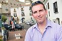 Sun Reporter Graeme Donohoe in Piazza Ernesto Capocci, Picinisco, Italy.