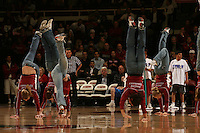 16 February 2006: The women's gymnastics team during Stanford's 82-69 win over the Arizona State Sun Devils at Maples Pavilion in Stanford, CA.
