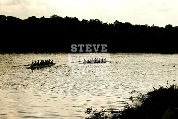 Boats approach the docks after competing in their race during the 68th Dad Vail Regatta on the Schuylkill River in Philadelphia, Pennsylvania on May 13, 2006........