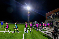 players entering the field before a female soccer game between  Racing Genk Ladies and Eendracht Aalst on the 15 th matchday of the 2020 - 2021 season of Belgian Scooore Womens Super League , friday 5 th of March 2021  in Genk , Belgium . PHOTO SPORTPIX.BE   SPP   STIJN AUDOOREN