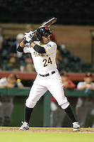 Scottsdale Scorpions second baseman Gift Ngoepe (24), of the Pittsburgh Pirates organization, during an Arizona Fall League game against the Salt River Rafters on October 9, 2013 at Scottsdale Stadium in Scottsdale, Arizona.  Salt River defeated Scottsdale 12-2.  (Mike Janes/Four Seam Images)