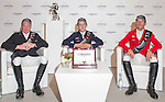 Bertram Allen of Ireland, John Whitaker of Great Britain and Puis Schwizer of Suitzerland attend a press conference after the Longines Speed Challenge as part of the Longines Masters of Hong Kong on 20 February 2016 at the Asia World Expo in Hong Kong, China. Photo by Li Man Yuen / Power Sport Images