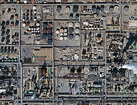 aerial photo map of ExxonMobil refinery Baton Rouge, Louisiana LA