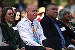 North Lake Tahoe Fire Protection District Fire Chief Mike Brown listens to speeches at the 18th annual Lake Tahoe Summit at the Valhalla Estate in South Lake Tahoe, Ca., on Tuesday, Aug. 19, 2014.  <br /> Photo by Cathleen Allison