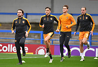 Hull City players warm up<br /> <br /> Photographer Dave Howarth/CameraSport<br /> <br /> The EFL Sky Bet League One - Rochdale v Hull City - Saturday 17th October 2020 - Spotland Stadium - Rochdale<br /> <br /> World Copyright © 2020 CameraSport. All rights reserved. 43 Linden Ave. Countesthorpe. Leicester. England. LE8 5PG - Tel: +44 (0) 116 277 4147 - admin@camerasport.com - www.camerasport.com