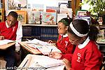 K-8 Parochial School Bronx New York Grade 5 social studies students working in class horizontal