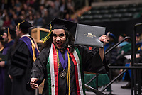 Maria Radillo Luna, B.S.W. Social Work, receives her degree during UAA's 2019 Spring Commencement at the Alaska Airlines Center.