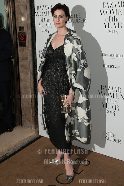 Erin O'Connor arriving for the Harpers Bazaar Women of the Year Awards, Claridges Hotel, London. 04/11/2014 Picture by: Dave Norton / Featureflash