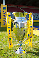 The trophy is displayed during the Aviva Premiership Rugby launch at  the Twickenham Stoop on Thursday 08 October 2015 (Photo by Rob Munro/Stewart Communications)
