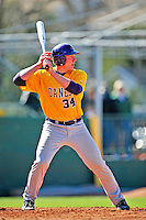 19 April 2009: University at Albany Great Danes' catcher Ralph Keppler, a Freshman from Rockville Centre, NY, at bat against the University of Vermont Catamounts at Historic Centennial Field in Burlington, Vermont. The Great Danes defeated the Catamounts 9-4 in the second game of a double-header. Sadly, the Catamounts are playing their last season of baseball, as the program has been marked for elimination due to budgetary constraints on the University. Mandatory Photo Credit: Ed Wolfstein Photo