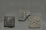 Seals from the Indus Valley, Mohenjodaro, Harappan Civilization 2700-2000 BC. The National Museum in New Delhi, India.