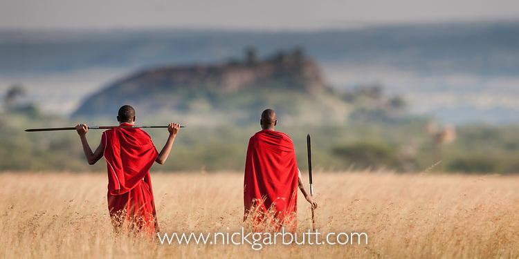 Masaai tribesmen. Ngorongoro Conservation Area / Serengeti National Park, Tanzania.