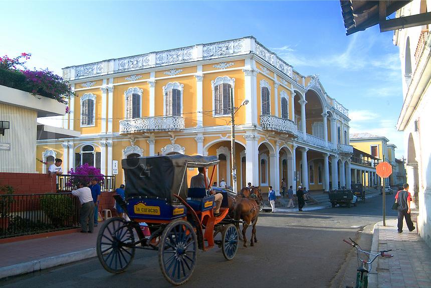 Horse drawn Taxi in Granada, Nicaragua.