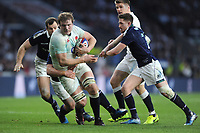 Joe Launchbury of England closes in on the tryline during the RBS 6 Nations match between England and Scotland at Twickenham Stadium on Saturday 11th March 2017 (Photo by Rob Munro/Stewart Communications)