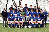 Barking Football Club players and officials pose for a team photograph prior to the match with Carshalton Athletic at Mayesbrook Park - 01/03/90 - MANDATORY CREDIT: Gavin Ellis/TGSPHOTO - Self billing applies where appropriate - Tel: 0845 094 6026