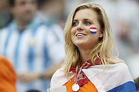A Netherlands fan in fancy dress