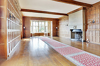 BNPS.co.uk (01202 558833)<br /> Pic: Savills/BNPS<br /> <br /> Pictured: Inside the castle.<br /> <br /> A stunning historic castle with views across the Channel to France is on the market for £11m.<br /> <br /> Grade I Listed Lympne Castle dates back to the 13th century and hosted everyone from archbishops and prime ministers to celebrities including Mick Jagger and Sir Paul McCartney.<br /> <br /> The striking property in Hythe, Kent, has such incredible views it was used during the Second World War to spot V1 rockets in Calais on a clear day, allowing coastline guns to be ready to shoot down the rockets over Hythe Bay.<br /> <br /> The grand home, which has been run as a wedding and events venue for the past 20 years, is on the market with Savills.