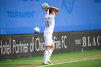 LAKE BUENA VISTA, FL - JULY 23: Przemyslaw Frankowski #11 of the Chicago Fire throws the ball during a game between Chicago Fire and Vancouver Whitecaps at Wide World of Sports on July 23, 2020 in Lake Buena Vista, Florida.