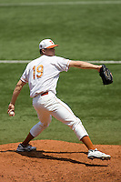 Starting pitcher Sam Stafford #19 of the Texas Longhorns delivers against Texas Tech on April 17, 2011 at UFCU Disch-Falk Field in Austin, Texas. (Photo by Andrew Woolley / Four Seam Images)