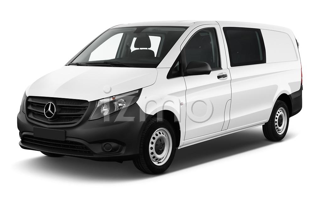 2019 Mercedes Benz Vito Base 4 Door Cargo Van angular front stock photos of front three quarter view