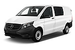 2019 Mercedes Benz Vito Base 4 Door Cargo Van angular front stock photos of front three quarter view