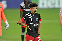 WASHINGTON, DC - SEPTEMBER 12: Kevin Paredes #30 of D.C. United during a game between New York Red Bulls and D.C. United at Audi Field on September 12, 2020 in Washington, DC.