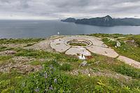 Panama Mounts, Fort Schwakta, Aleutians world war II national historic area, Mt. Ballyhoo, Amaknak Island, Dutch Harbor, Aleutian Islands.