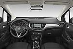 Stock photo of straight dashboard view of 2021 Opel Crossland Edition 5 Door SUV Dashboard
