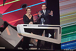 Luis Miguel Segui and Antonia San Juan give an award to during the 40 Principales Awards ceremony in Madrid, Spain. December 12, 2014. (ALTERPHOTOS/Victor Blanco)
