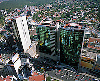 aerial photograph of AIG and MetLife  towers, Mexico City