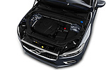Car stock 2018 Volvo XC60 Inscription 5 Door SUV engine high angle detail view