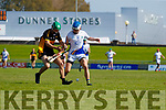 Patrick Crehan, Dr. Crokes in action against Luke Chester, Tralee Parnells during the Kerry County Intermediate Hurling Championship Final match between Dr Crokes and Tralee Parnell's at Austin Stack Park in Tralee