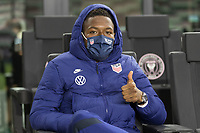 FORT LAUDERDALE, FL - DECEMBER 09: Andres Perea of the United States during a game between El Salvador and USMNT at Inter Miami CF Stadium on December 09, 2020 in Fort Lauderdale, Florida.