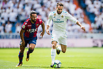Daniel Carvajal Ramos of Real Madrid (R) fights for the ball with Ivan Lopez Alvarez, Ivi, of Levante UD (L) during the La Liga match between Real Madrid and Levante UD at the Estadio Santiago Bernabeu on 09 September 2017 in Madrid, Spain. Photo by Diego Gonzalez / Power Sport Images