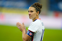SOLNA, SWEDEN - APRIL 10: Carli Lloyd #10 of the United States during a game between Sweden and USWNT at Friends Arena on April 10, 2021 in Solna, Sweden.