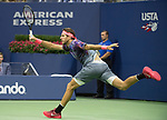 September 8,2017:   Juan Martin Delpotro (ARG) loses to Rafael Nadal (ESP) 4-6, 6-0, 6-3, 6-2, at the US Open being played at Billy Jean King National Tennis Center in Flushing, Queens, New York.  ©Leslie Billman/EQ
