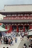Tourists visiting Sensoji, an ancient Buddhist temple, in Tokyo.
