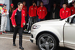 Real Madrid player Ricardo Carvalho participates and receives new Audi during the presentation of Real Madrid's new cars made by Audi at the Jarama racetrack on November 8, 2012 in Madrid, Spain.(ALTERPHOTOS/Harry S. Stamper)