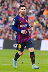 Lionel Andres Messi of FC Barcelona looks on during the La Liga 2018-19 match between FC Barcelona and Real Betis at Camp Nou, on November 11 2018 in Barcelona, Spain. Photo by Vicens Gimenez / Power Sport Images