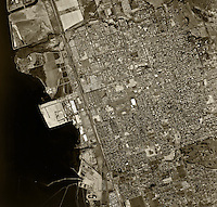 historical aerial photograph Chula Vista, California, 1966