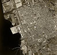 historical aerial photograph Chula Vista, California, 1966
