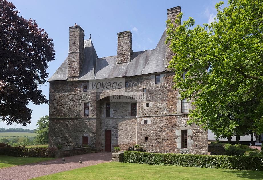 France, Manche (50), Cotentin,Cerisy-la-Salle: Château de Cerisy-la-Salle, devenu un centre culturel international// France, Manche, Cotentin,Cerisy la Salle:  The Château de Cerisy-la-Salle, hosts the Centre culturel international de Cerisy-la-Salle (CCIC)