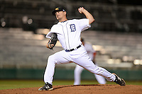 Mesa Solar Sox Pitcher Blaine Hardy (56), of the Detroit Tigers organization, during an Arizona Fall League game against the Peoria Javelinas on October 17, 2013 at HoHoKam Park in Mesa, Arizona.  Mesa defeated Peoria 6-1.  (Mike Janes/Four Seam Images)