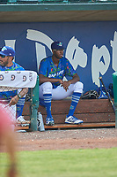 Mark Washington (52) of the Ogden Raptors during the game against the Idaho Falls Chukars at Lindquist Field on July 29, 2018 in Ogden, Utah. The Raptors defeated the Chukars 20-19. (Stephen Smith/Four Seam Images)