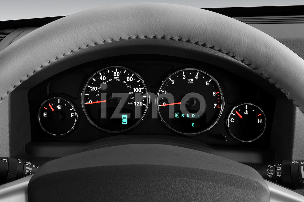 Instrument panel detail of a 2008 Jeep Liberty Limited