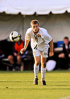 15 October 2008: University of Vermont Catamount backfielder Drew Smalley, a Sophomore from Beaverton, OR, in action against the University of New Hampshire Wildcats at Centennial Field, in Burlington, Vermont. The Wildcats and Catamounts battled in overtime to a 0-0 tie...Mandatory Photo Credit: Ed Wolfstein Photo